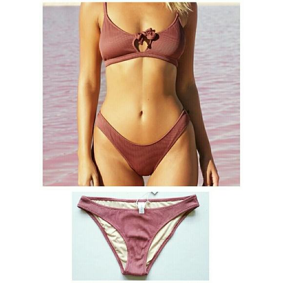 Cupshe Other - Cupshe Bikini Swim Bottom NWT Dark Blush Rose